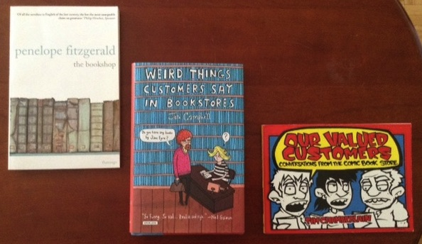 books about books on a coffee end table